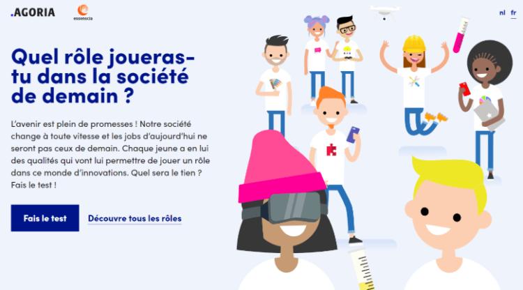 Agoria et essenscia lancent 'Hey, that's me', un test de profil en ligne qui aide les jeunes dans leur choix d'études