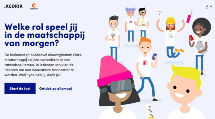 Agoria en essenscia lanceren Hey That's Me: online profieltest die jongeren helpt bij hun studiekeuze