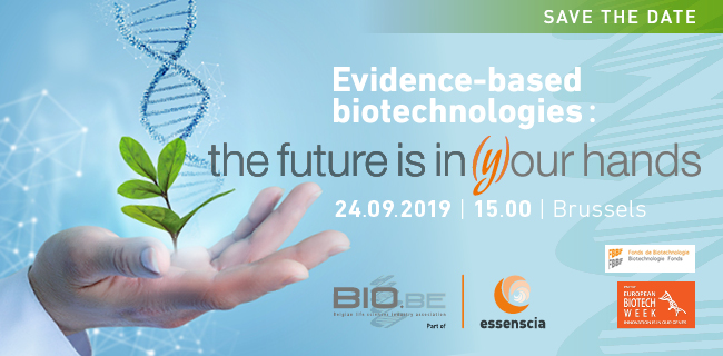 24 September – Annual event bio.be/essenscia: Evidence-based biotechnologies: the future is in (y)our hands