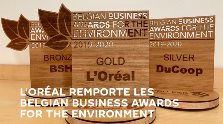 L'Oréal Libramont remporte le premier prix des Belgian Business Awards for the Environment